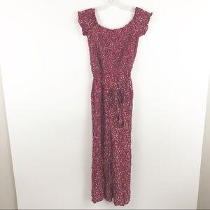 Lulus floral jumpsuit